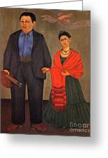 Frida Kahlo And Diego Rivera 1931 Greeting Card
