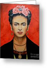 Frida Kahlo Greeting Card by Elena Day