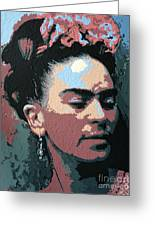 Frida Kahlo In Colour Greeting Card