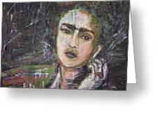 Frida Y Cigarrillos Greeting Card