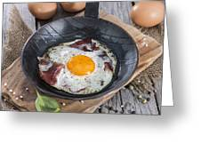 Fried Egg In A Pan Greeting Card