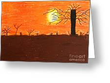 Friendly Sunset Greeting Card