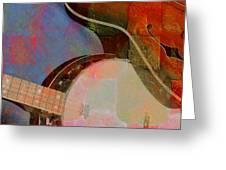 Friends Again Digital Banjo And Guitar Art By Steven Langston Greeting Card