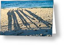 Friends At The Beach Greeting Card
