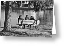 Friends In Black And White Greeting Card