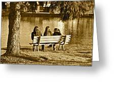 Friends In Sepia Greeting Card