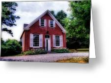 Friends Meeting House Greeting Card by Skip Willits