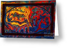 Friendship And Love Abstract Healing Art Greeting Card