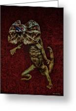 Frilled Lizard Greeting Card