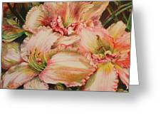 Frilly Pinks Greeting Card