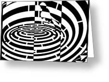 Frisbee Toss Maze  Greeting Card
