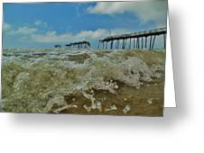 Frisco Pier Water Level View 1 5/24  Greeting Card