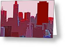 Frisco Skyline Greeting Card