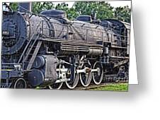 Frisco Train Locomotive Three Greeting Card
