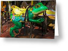 Frog Carrousel Ride Greeting Card