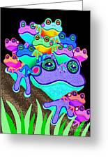 Frog Family Too Greeting Card