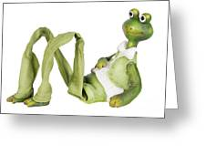 Frog -  Gentleman With A  Long Legs Greeting Card