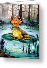 Frog Prince Greeting Card by Heather Calderon