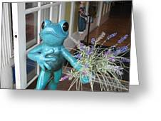 Frog Suitor Greeting Card