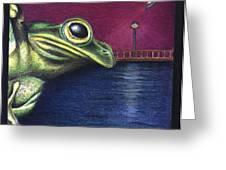 Frog Wars Greeting Card