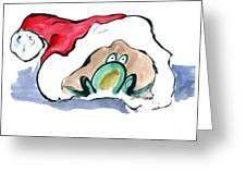 Frogg In A Santa Hat Greeting Card
