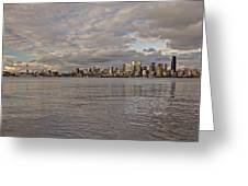 from Alki Beach Seattle skyline Greeting Card