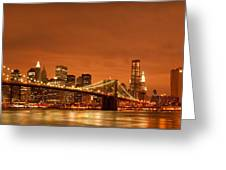 From Brooklyn To Manhattan Greeting Card by Andreas Freund
