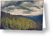 From Moro Rock Of The Sequoias Greeting Card