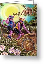 From Purple Cat Illustration 1 Greeting Card
