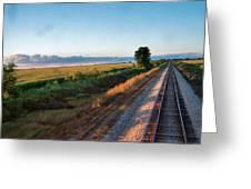 Train Through Illinois Greeting Card