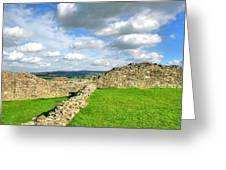 From The Castle To The Hills  Greeting Card