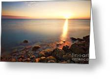 From The Rocks Sunset  Greeting Card by Eyzen M Kim