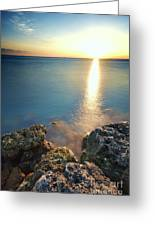 From The Sea Rocks Greeting Card