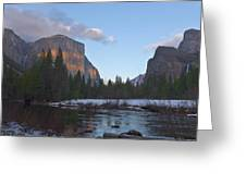 From Valley View At Sunset Greeting Card