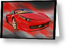 Front 2012 458 Spider  Greeting Card