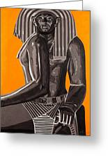 Front And Side Egyptian Pharoah Greeting Card