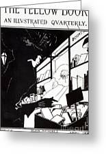 Front Cover Of The Prospectus For The Yellow Book Greeting Card by Aubrey Beardsley