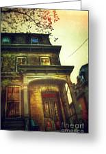 Front Of Old House Greeting Card by Jill Battaglia