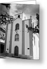 front of the church in Los Banquitos Tenerife Canary Islands Spain Greeting Card