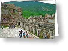 Front Of Theater In Ephesus-turkey Greeting Card