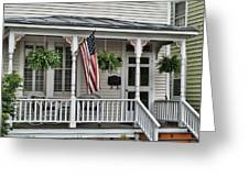 Front Porch Flag Greeting Card