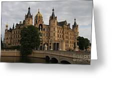 Front View Of Palace Schwerin Greeting Card