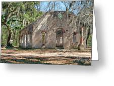 Front View Of The Chapel Of Ease Greeting Card