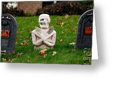 Front Yard Halloween Graveyard Greeting Card
