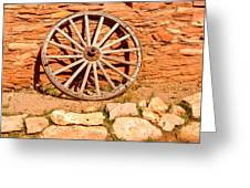 Frontier Wagon Wheel Greeting Card