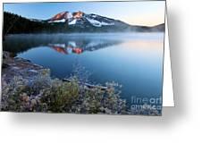 Frost At Paulina Lake Greeting Card