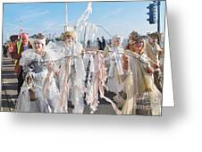 Frost Fair Parade At St Leonards Greeting Card