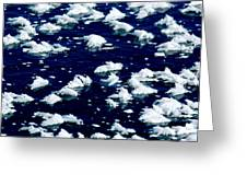 Frost Flakes On Ice - 05 Greeting Card