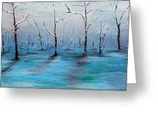 Frost Like Ashes Greeting Card