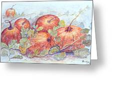 Frost On The Pumpkin Greeting Card